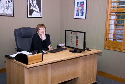 Annette Riley in her Market Street office