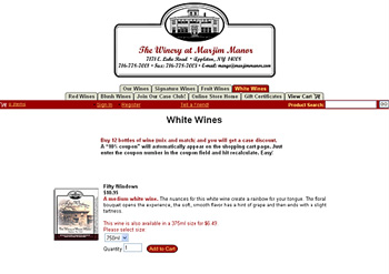 The Winery at Marjim Manor Online Store